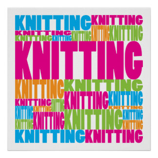 Colorful Knitting Poster
