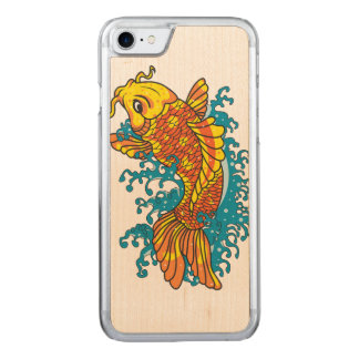 Colorful Koi Carved iPhone 7 Case