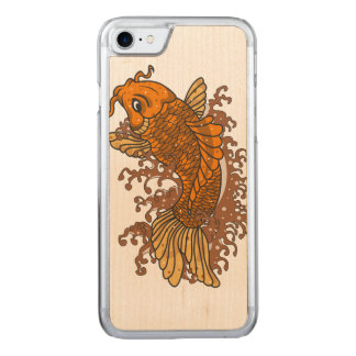 Colorful Koi Carved iPhone 8/7 Case