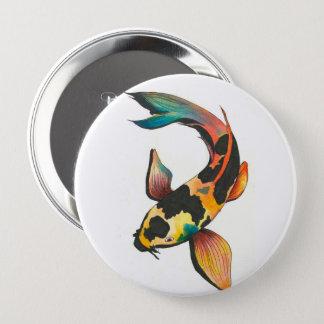 Colorful Koi Fish Button