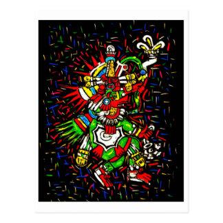 colorful kukulcan postcard