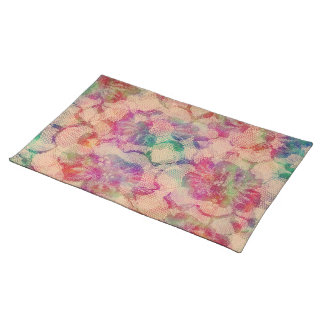 Colorful Lace Roses Placemat