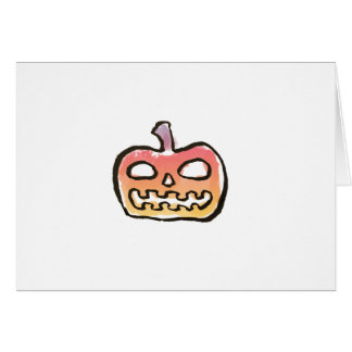 Colorful Lack-O-Lantern Pumpkin {Halloween} Card