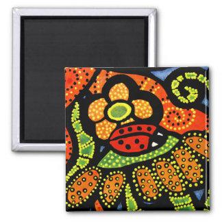 Colorful Ladybug Magnet