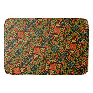 Colorful Ladybug Pattern Polka Dots Flowers Bath Mat