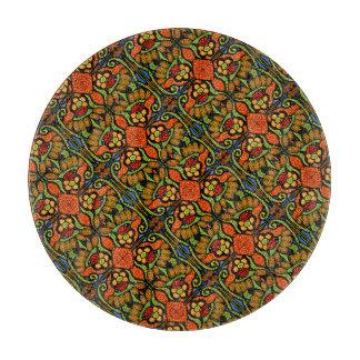 Colorful Ladybug Pattern Polka Dots Flowers Cutting Board