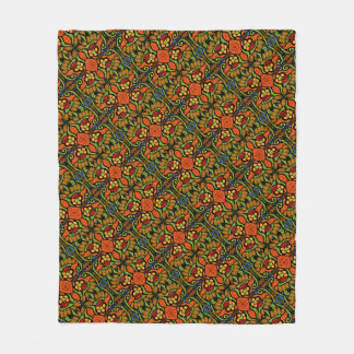 Colorful Ladybug Pattern Polka Dots Flowers Fleece Blanket