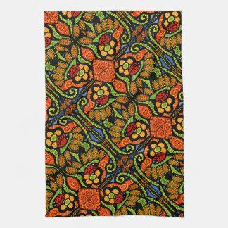 Colorful Ladybug Pattern Polka Dots Flowers Kitchen Towel