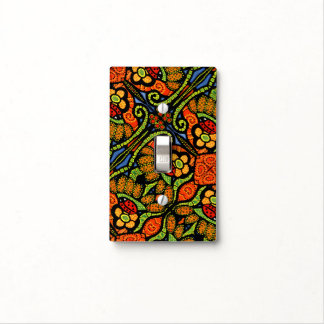 Colorful Ladybug Pattern Polka Dots Flowers Light Switch Cover