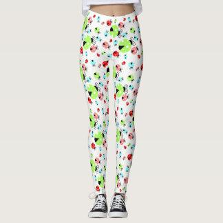 Colorful Ladybugs Spandex Leggings