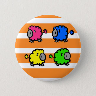 Colorful Lambs 2 Inch Round Button