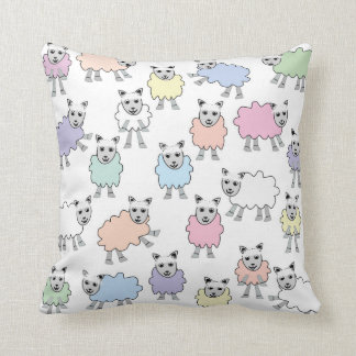 Colorful Lambs Pillow