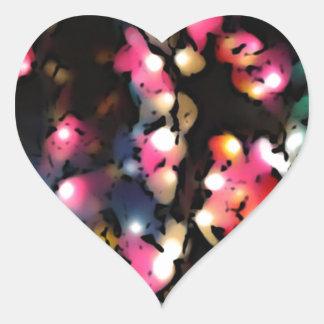 Colorful lantern lights photo art heart sticker