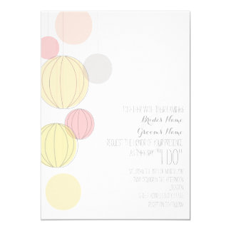 Colorful Lanterns Garden Wedding Invite