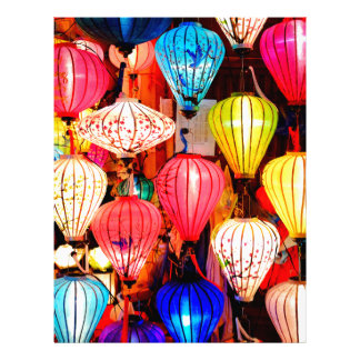 Colorful lanterns letterhead