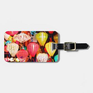 Colorful lanterns luggage tag