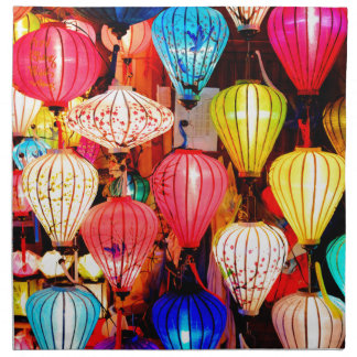 Colorful lanterns napkin