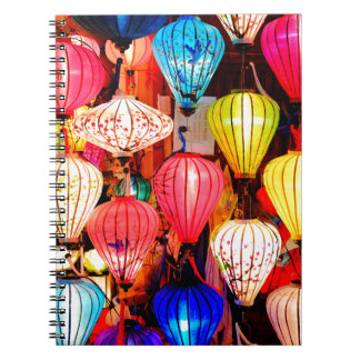 Colorful lanterns notebook