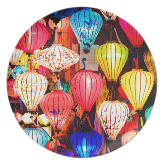Colorful lanterns plate