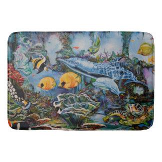 Colorful Large Aquarium Bath Mat