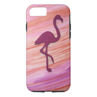 Colorful large pink crane inspired by the beach. iPhone 8/7 case