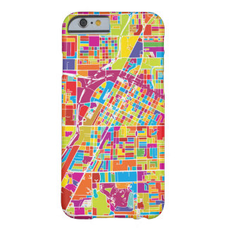 Colorful Las Vegas, Nevada Map Barely There iPhone 6 Case