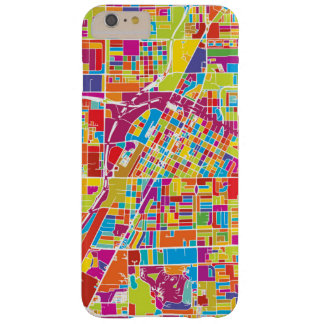 Colorful Las Vegas, Nevada Map Barely There iPhone 6 Plus Case