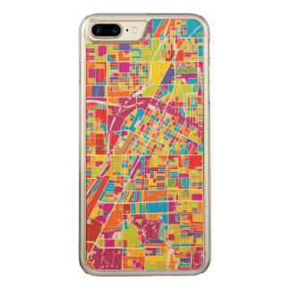 Colorful Las Vegas, Nevada Map Carved iPhone 8 Plus/7 Plus Case