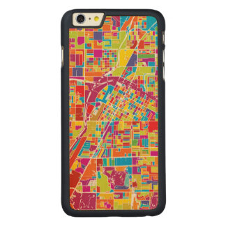 Colorful Las Vegas, Nevada Map Carved Maple iPhone 6 Plus Case