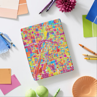 Colorful Las Vegas, Nevada Map iPad Cover