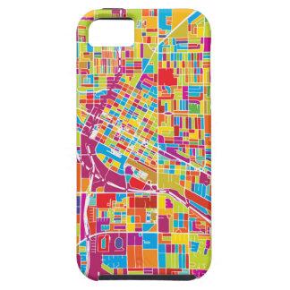 Colorful Las Vegas, Nevada Map iPhone 5 Case