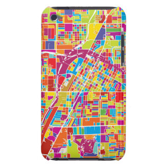 Colorful Las Vegas, Nevada Map iPod Touch Case