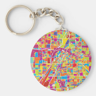 Colorful Las Vegas, Nevada Map Keychain