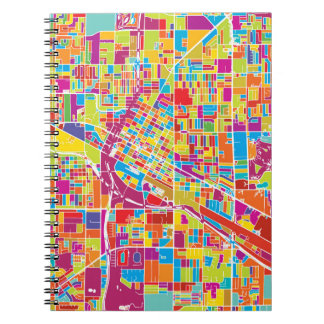 Colorful Las Vegas, Nevada Map Notebooks