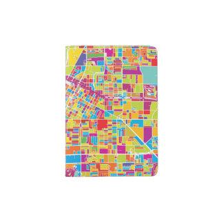 Colorful Las Vegas, Nevada Map Passport Holder