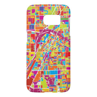 Colorful Las Vegas, Nevada Map Samsung Galaxy S7 Case