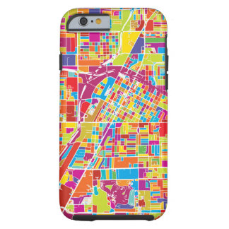 Colorful Las Vegas, Nevada Map Tough iPhone 6 Case