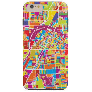 Colorful Las Vegas, Nevada Map Tough iPhone 6 Plus Case