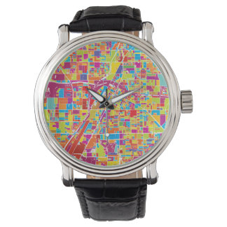 Colorful Las Vegas, Nevada Map Watch