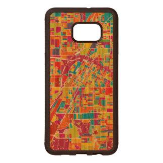 Colorful Las Vegas, Nevada Map Wood Samsung Galaxy S6 Edge Case
