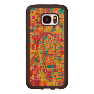 Colorful Las Vegas, Nevada Map Wood Samsung Galaxy S7 Case