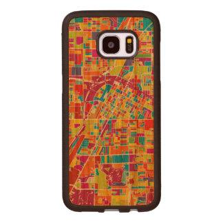 Colorful Las Vegas, Nevada Map Wood Samsung Galaxy S7 Edge Case