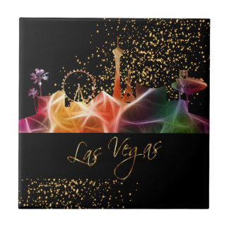Colorful Las Vegas Skyline Tile