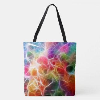 Colorful Laser Lights All Over Pattern Tote Bag