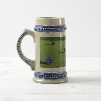 Colorful Lawn Bowls, Beer Stein