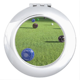 Colorful Lawn Bowls, Makeup Mirror
