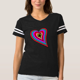 Colorful Layered Love Heart Shirt