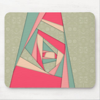 Colorful Layers Collage Mouse Pad