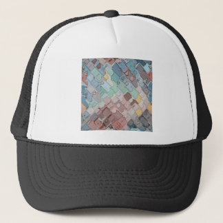 Colorful Layers Pattern Trucker Hat