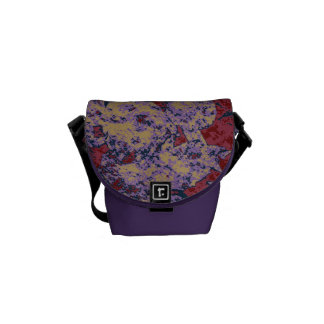 Colorful leaf and flower camouflage pattern commuter bag